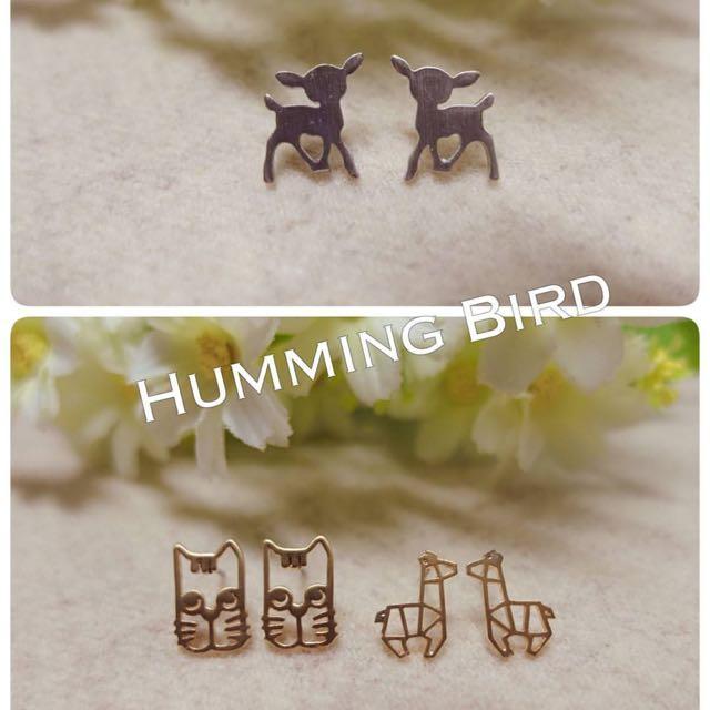 正韓動物耳環
