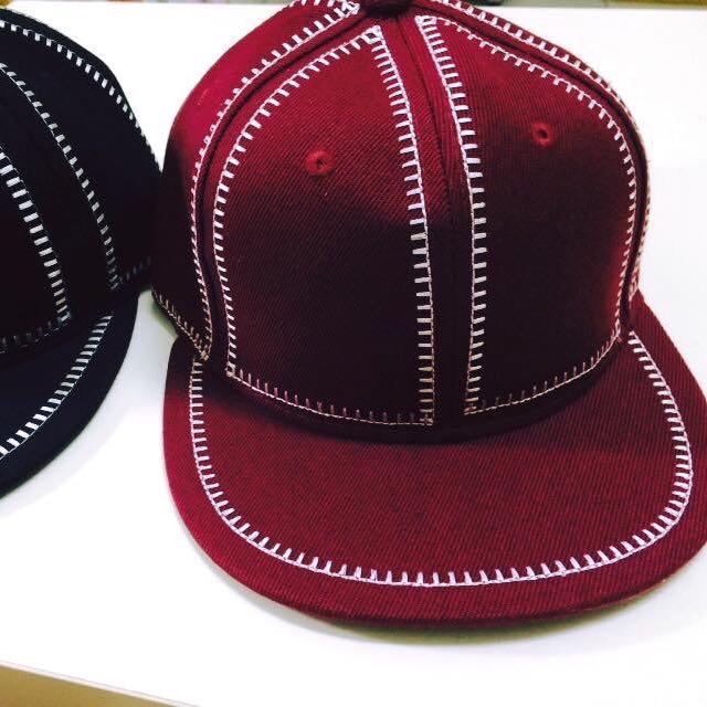 條紋棒球帽