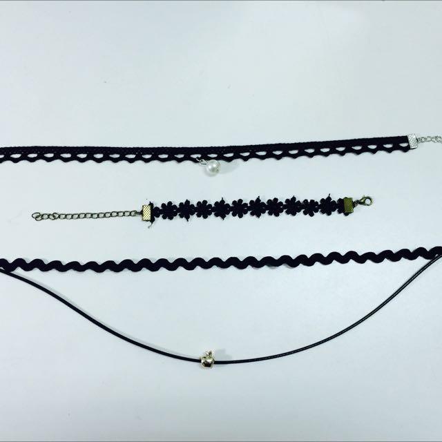蕾絲頸鍊手環