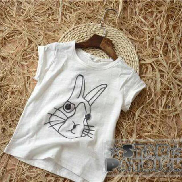 棉線勾勒小兔純棉衣,預購