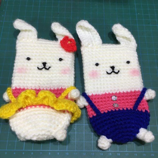 可愛小兔子手機袋、收納袋