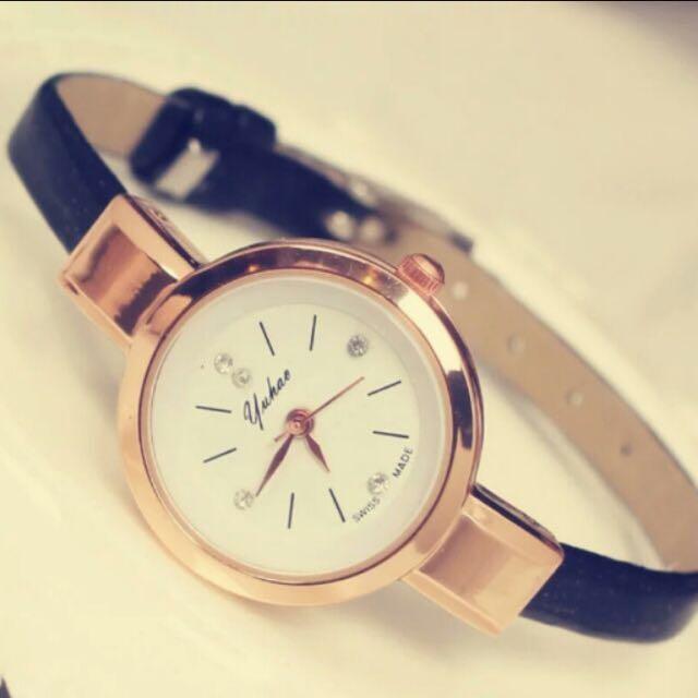 黑色。氣質錶。全新轉售
