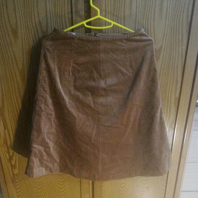 🎏古著- 棕色半身裙