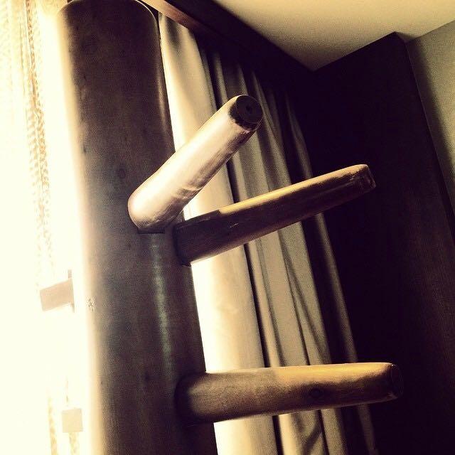 詠春拳 木人樁實木 吸盤式