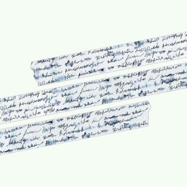 <紙膠帶分裝>台灣原創 野餐桌 被雨淋濕的信(藍&棕)