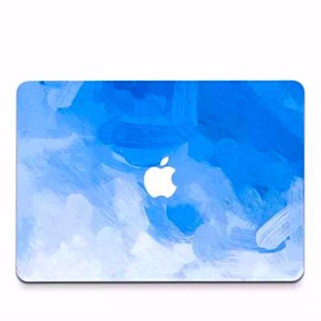 超有型蘋果 Apple Mac Air 保護貼膜 海洋漸層藍筆刷風格  一組4張 [全包版]