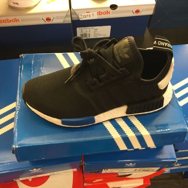 Adidas NMD Runner J 黑藍 女鞋 保證正品 台中ㄧ中可面交