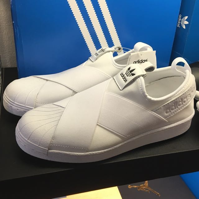 Adidas Slip On 白 保證正品 台中ㄧ中可面交