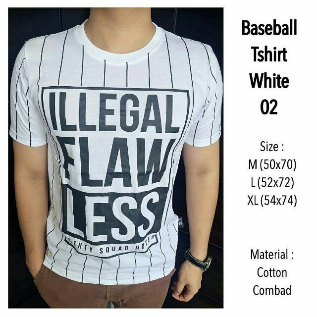 Baeball Tshirt White 02