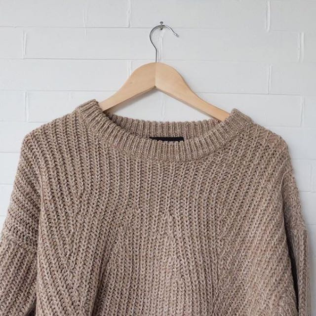 Brown Abs Knit