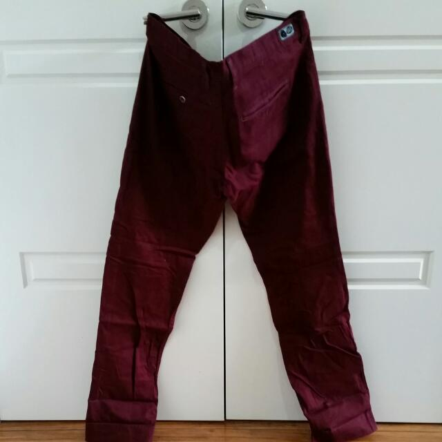 Burgundy Cheap Monday Chinos