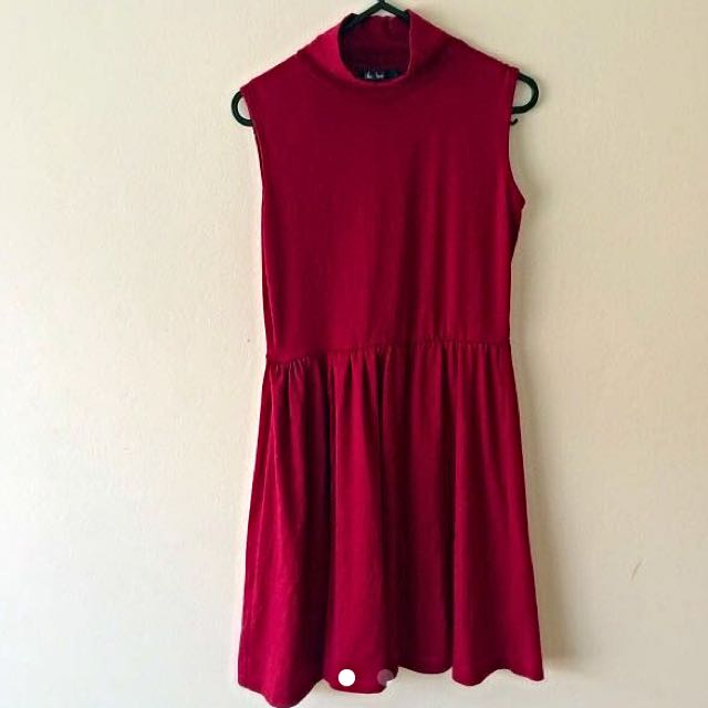 Chick A Booti Red Turtle Neck Dress