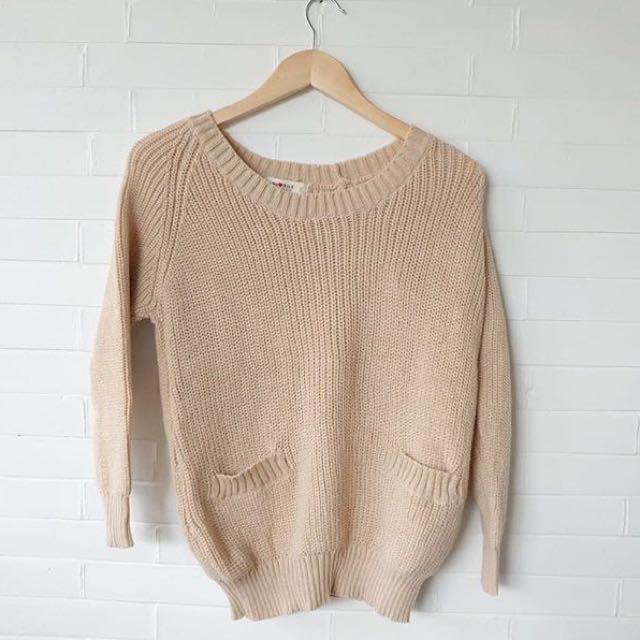 Cream Glitter Knit