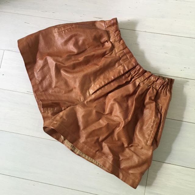 Cute Faux Leather Shorts