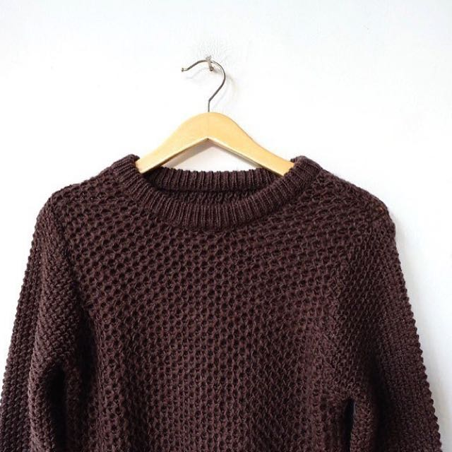 Dark Brown Knit
