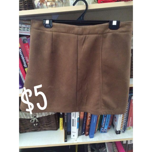 Dissh Brown Skirt