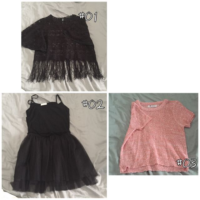 【3 FOR $18】Girl's Clothes and skirt