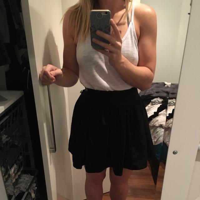 High Waisted Frill Skirt.