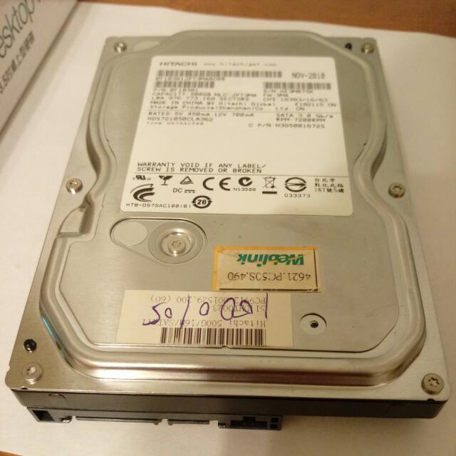HITACHI SATA HHD 硬碟500G