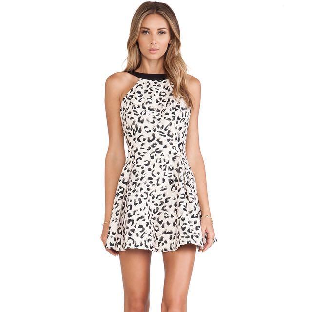 Keepsake Sz 10 Leopard Dress
