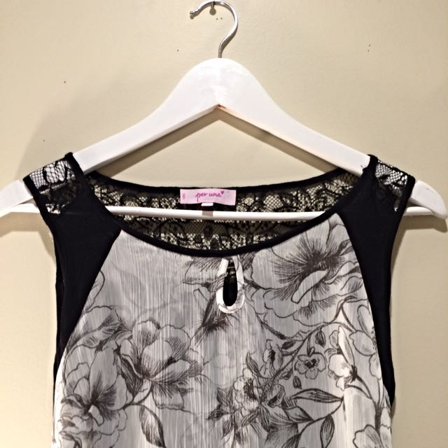 Marks & Spencer's Basic Black Floral Top