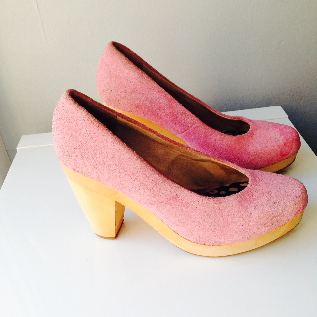 Pink Gorman Suede Pumps.