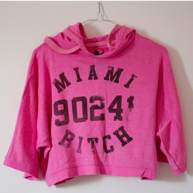 Pink Miami Exercise Hoodie