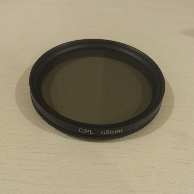Polariser Polarising Lens Hood 52mm Filter