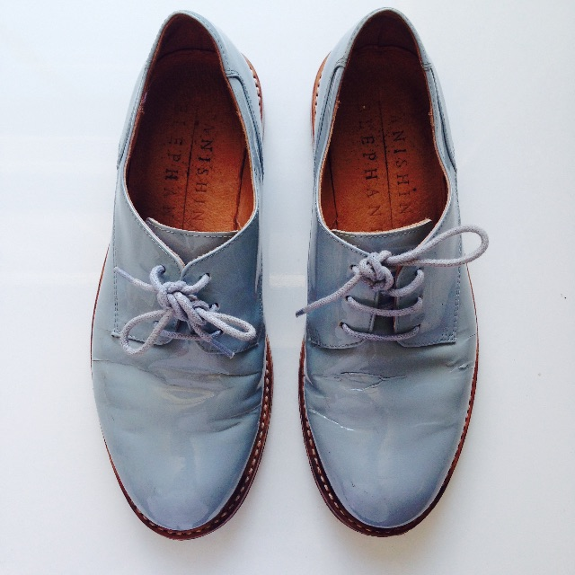 Powder Blue Brogues by Vanishing Elephant