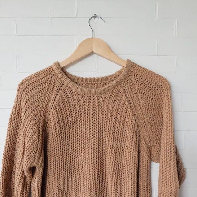 Teddy Brown Knit