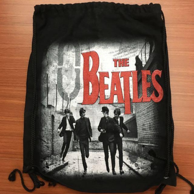 The Beatles披頭四雙面黑色束口袋