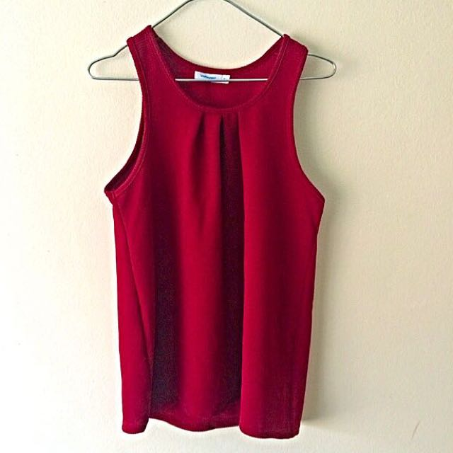 Valley Girl Super Cute Red Top