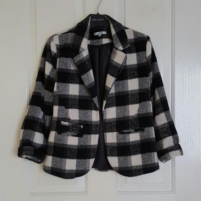 VALLEYGIRL Checkered Blazer