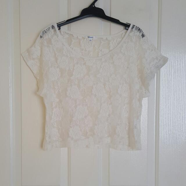 VALLEYGIRL Lace Tee