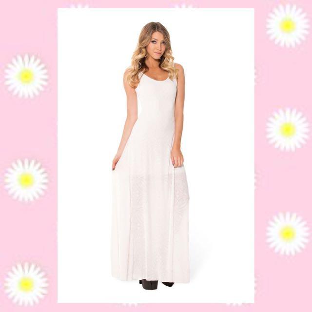 White BV Black Milk Clothing Maxi Dress