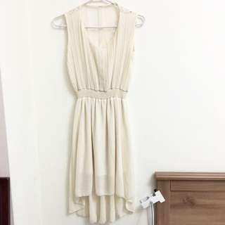白色蕾絲長洋裝