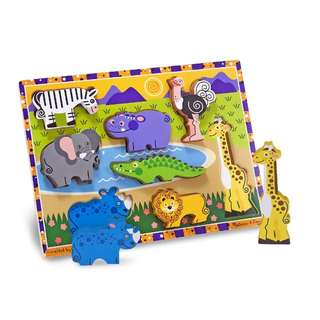 BNIP Melissa & Doug Safari Chunky Puzzle