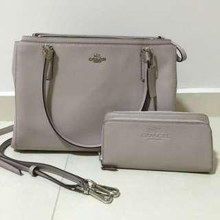 (Reserved) Coach Handbag + Wallet (bundle Set)