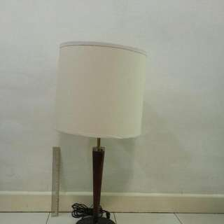 Table Lamp / Light Marble Base Hard Wood Body