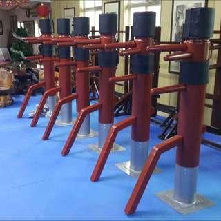 詠春拳 吸盤式 木人樁