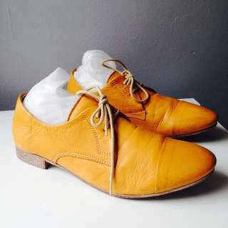 Yellow Leather Brogues