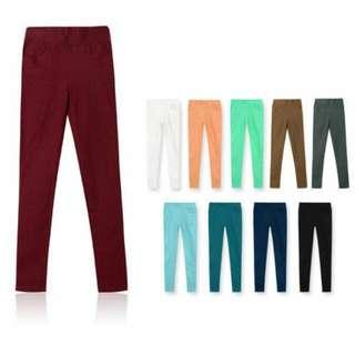 酒紅鉛筆褲