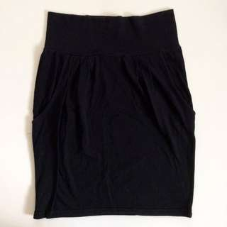 Black Bodycon Work Skirt