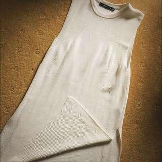 Sportsgirl White Knitted Top- Size 12
