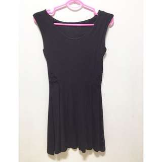 Back Laced Black Dress