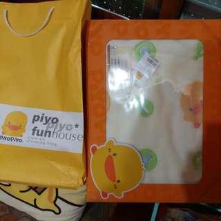 黃色小鴨立體熱氣球四季毯禮盒