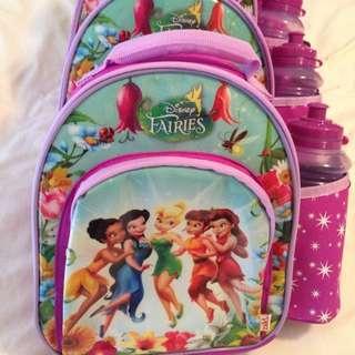 Insulated Disney Fairies Cooler Bags X 4