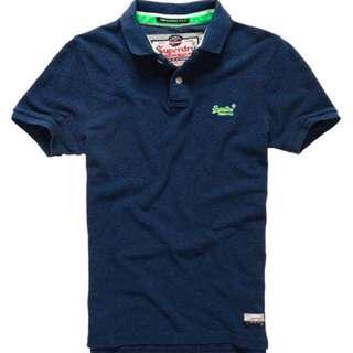 🚚 【現貨XS】Superdry極度乾燥 經典貼布繡Polo衫