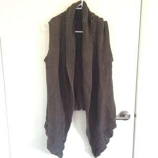 Army Green Knit Vest Size S