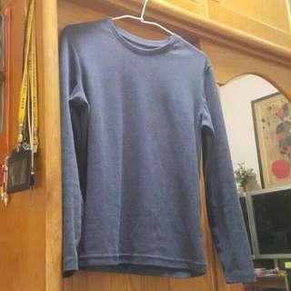 NET 深藍色長袖T